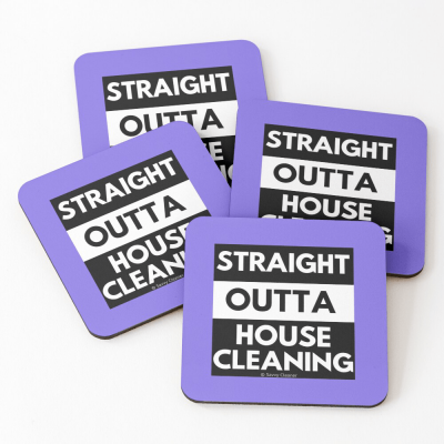Straight Outta House Cleaning, Savvy Cleaner Funny Cleaning Gifts, Cleaning Coasters