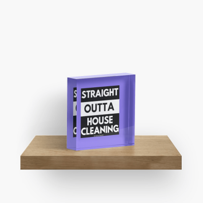 Straight Outta House Cleaning, Savvy Cleaner Funny Cleaning Gifts, Cleaning Collectible cube