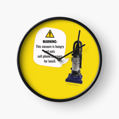 This Vacuum is Hungry, Savvy Cleaner Funny Cleaning Gifts, Cleaning Clock