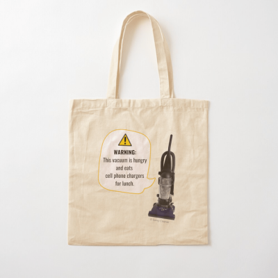 This Vacuum is Hungry, Savvy Cleaner Funny Cleaning Gifts, Cleaning Cotton Tote Bag