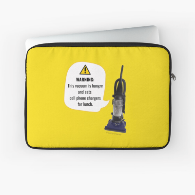 This Vacuum is Hungry, Savvy Cleaner Funny Cleaning Gifts, Cleaning Laptop Sleeve