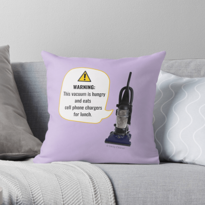 This Vacuum is Hungry, Savvy Cleaner Funny Cleaning Gifts, Cleaning Pillow
