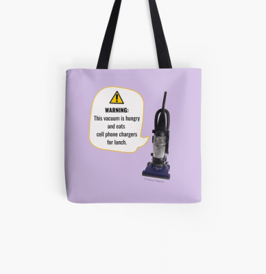 This Vacuum is Hungry, Savvy Cleaner Funny Cleaning Gifts, Cleaning Tote Bag