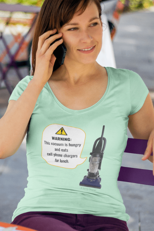 This Vacuum is Hungry, Savvy Cleaner Funny Cleaning Shirts, Slouch Tee