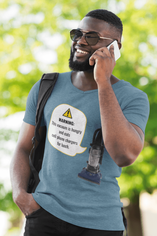 This Vacuum is Hungry, Savvy Cleaner Funny Cleaning Shirts, V-Neck Tee