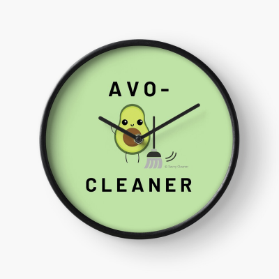 Avo-Cleaner, Savvy Cleaner Funny Cleaning Gifts, Cleaning Clock