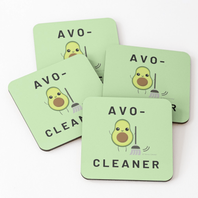 Avo-Cleaner, Savvy Cleaner Funny Cleaning Gifts, Cleaning Coasters