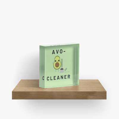 Avo-Cleaner, Savvy Cleaner Funny Cleaning Gifts, Cleaning Collectible Cube