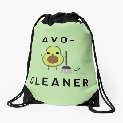 Avo-Cleaner, Savvy Cleaner Funny Cleaning Gifts, Cleaning Drawstring Bag