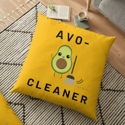 Avo-Cleaner, Savvy Cleaner Funny Cleaning Gifts, Cleaning Floor Pillow