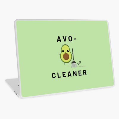 Avo-Cleaner, Savvy Cleaner Funny Cleaning Gifts, Cleaning Laptop Skin