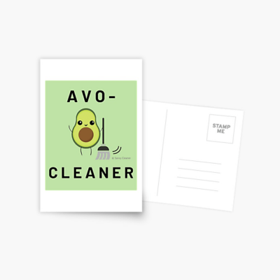 Avo-Cleaner, Savvy Cleaner Funny Cleaning Gifts, Cleaning Postcard