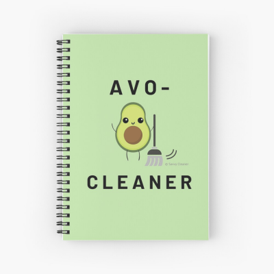 Avo-Cleaner, Savvy Cleaner Funny Cleaning Gifts, Cleaning Spiral Notepad