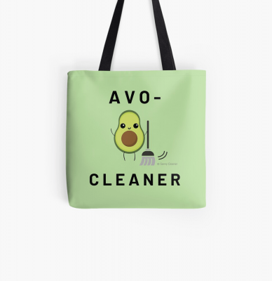 Avo-Cleaner, Savvy Cleaner Funny Cleaning Gifts, Cleaning Tote Bag