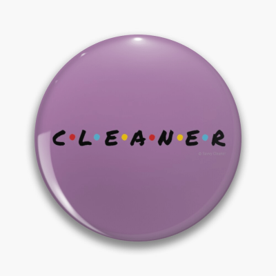 CLEANER, Savvy Cleaner Funny Cleaning Gifts, Cleaning Button
