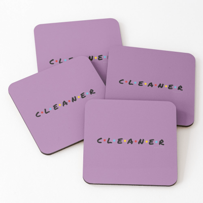 CLEANER, Savvy Cleaner Funny Cleaning Gifts, Cleaning Coasters