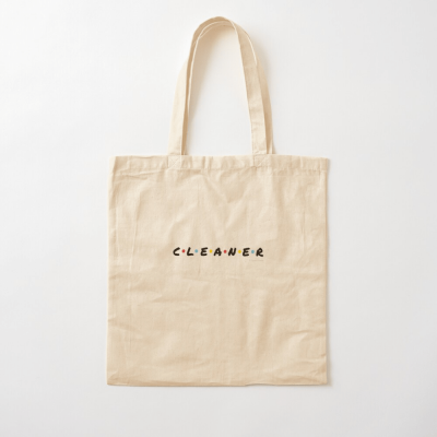 CLEANER, Savvy Cleaner Funny Cleaning Gifts, Cleaning Cotton Tote Bag