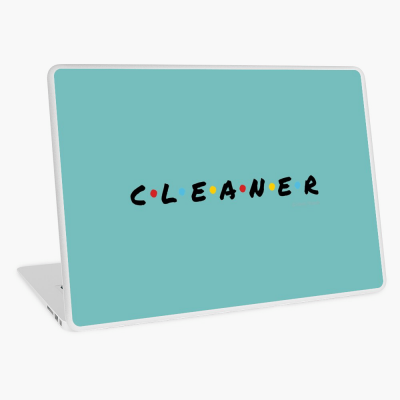 CLEANER, Savvy Cleaner Funny Cleaning Gifts, Cleaning Laptop Skin