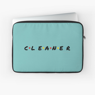 CLEANER, Savvy Cleaner Funny Cleaning Gifts, Cleaning Laptop Sleeve