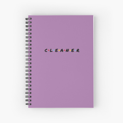 CLEANER, Savvy Cleaner Funny Cleaning Gifts, Cleaning Spiral Notepad