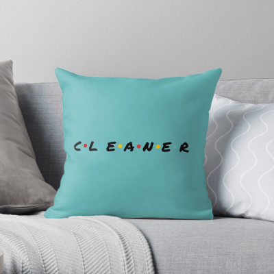 CLEANER, Savvy Cleaner Funny Cleaning Gifts, Cleaning Throw Pillow