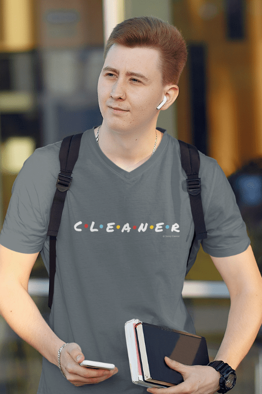 CLEANER, Savvy Cleaner Funny Cleaning Shirts, Premium V-Neck T-Shirt
