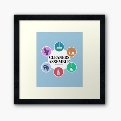 Cleaners Assemble, Savvy Cleaner Funny Cleaning Gifts, Cleaning Framed art Print