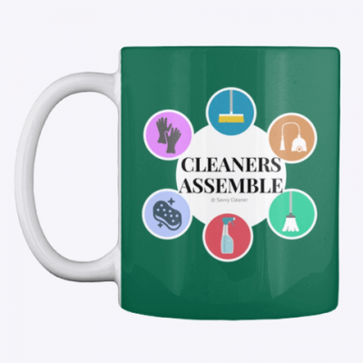 Cleaners Assemble, Savvy Cleaner Funny Cleaning Gifts, Cleaning Mug