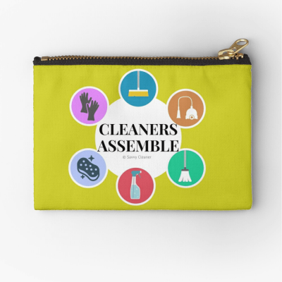 Cleaners Assemble, Savvy Cleaner Funny Cleaning Gifts, Cleaning Zipper bag