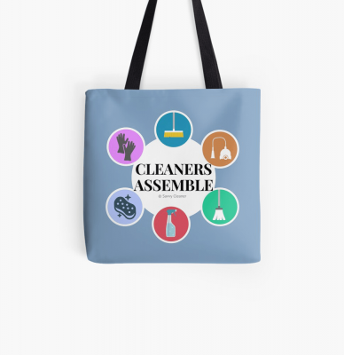 Cleaners Assemble, Savvy Cleaner Funny Cleaning Gifts, Cleaning tote Bag