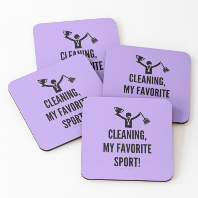 Cleaning My Favorite Sport, Savvy Cleaner Funny Cleaning Gifts, Cleaning Coasters