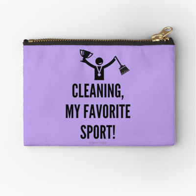 Cleaning My Favorite Sport, Savvy Cleaner Funny Cleaning Gifts, Cleaning Zipper bag