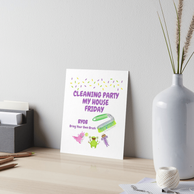 Cleaning Party, Savvy Cleaner Funny Cleaning gifts, Cleaning art print