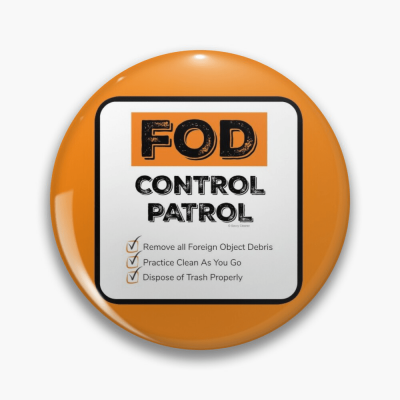 FOD Control Patrol, Savvy Cleaner Funny Cleaning Gifts, Cleaning Button