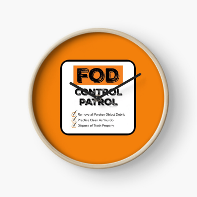 FOD Control Patrol, Savvy Cleaner Funny Cleaning Gifts, Cleaning Clock