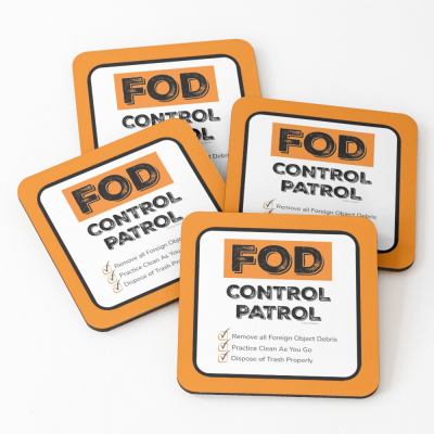 FOD Control Patrol, Savvy Cleaner Funny Cleaning Gifts, Cleaning Coasters