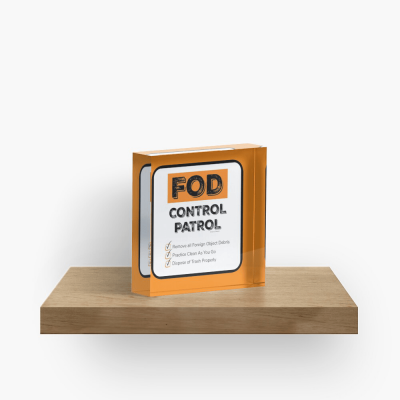 FOD Control Patrol, Savvy Cleaner Funny Cleaning Gifts, Cleaning Collectible Cube