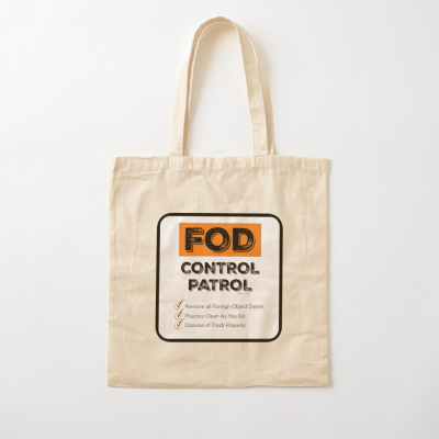 FOD Control Patrol, Savvy Cleaner Funny Cleaning Gifts, Cleaning Cotton Tote Bag