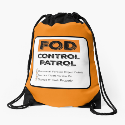 FOD Control Patrol, Savvy Cleaner Funny Cleaning Gifts, Cleaning Drawstring Bag
