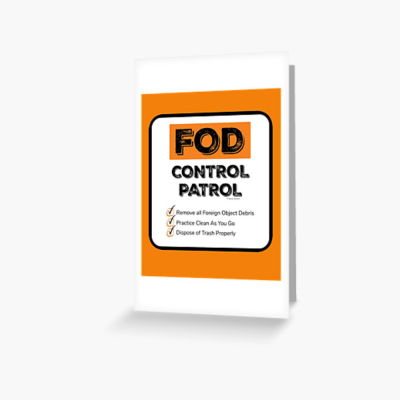 FOD Control Patrol, Savvy Cleaner Funny Cleaning Gifts, Cleaning Greeting Card