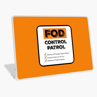 FOD Control Patrol, Savvy Cleaner Funny Cleaning Gifts, Cleaning Laptop Skin
