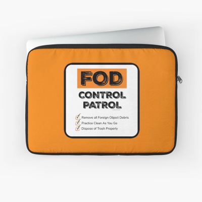 FOD Control Patrol, Savvy Cleaner Funny Cleaning Gifts, Cleaning Laptop Sleeve