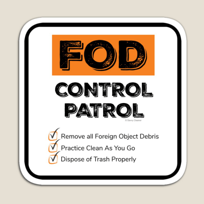 FOD Control Patrol, Savvy Cleaner Funny Cleaning Gifts, Cleaning Magnet