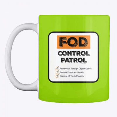 FOD Control Patrol, Savvy Cleaner Funny Cleaning Gifts, Cleaning Mug