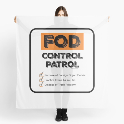 FOD Control Patrol, Savvy Cleaner Funny Cleaning Gifts, Cleaning Scarf