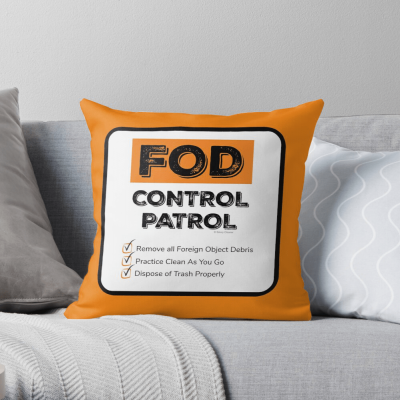 FOD Control Patrol, Savvy Cleaner Funny Cleaning Gifts, Cleaning Throw Pillow