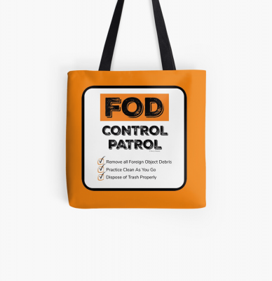 FOD Control Patrol, Savvy Cleaner Funny Cleaning Gifts, Cleaning Tote Bag