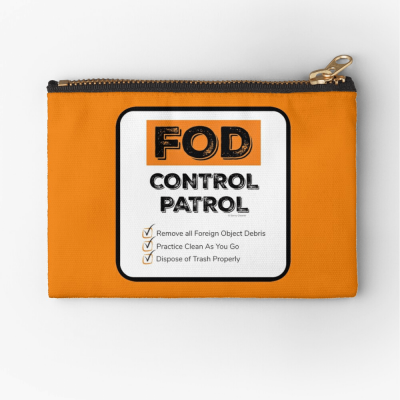 FOD Control Patrol, Savvy Cleaner Funny Cleaning Gifts, Cleaning Zipper Bag