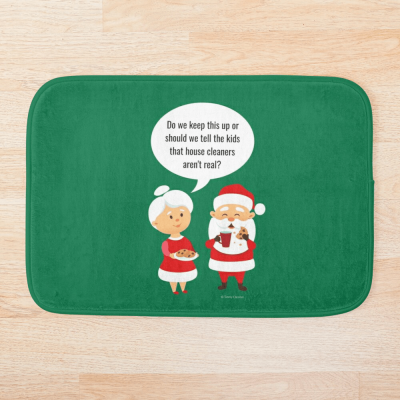 House Cleaners Aren't Real, Savvy Cleaner Funny Cleaning Gifts, Cleaning Bathmat