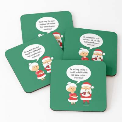 House Cleaners Aren't Real, Savvy Cleaner Funny Cleaning Gifts, Cleaning Coasters